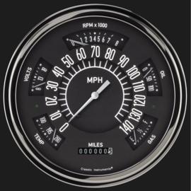 Classic Instruments Classic Instruments 49-50 Chevy Car Instruments Black