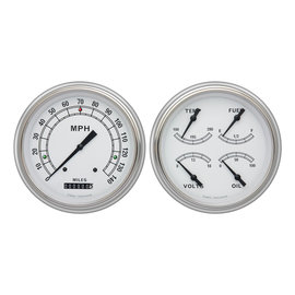 Classic Instruments Classic Instruments 51-52 Chevy Car Instruments - Classic White