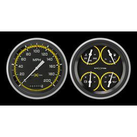 Classic Instruments Classic Instruments - 51-52 Chevy Car Instruments - AutoCross Yellow