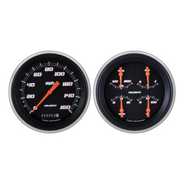 Classic Instruments Classic Instruments 51-52 Chevy Car Instruments - Velocity Series Black