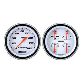 Classic Instruments Classic Instruments 51-52 Chevy Car Instruments - Velocity White