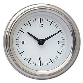 """Classic Instruments Classic Instruments White Hot  - 2 1/8"""" Clock - WH90SLF"""