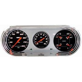 Classic Instruments Classic Instruments 63-65 Nova Direct Fit Instruments - Velocity Black - NO63VSB