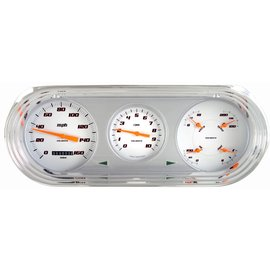 Classic Instruments Classic Instruments 63-65 Nova Direct Fit Instruments - Velocity White - NO63VSW