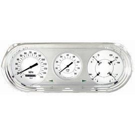 Classic Instruments Classic Instruments 63-65 Nova Direct Fit Instruments - White Hot - NO63WH