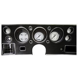 Classic Instruments Classic Instruments 70-72 Chevelle SS Instruments - Classic White - Std. Speedo - CV70CW