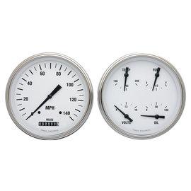 Classic Instruments Classic Instruments 47-53 Chevy/GMC Truck Instruments - White Hot