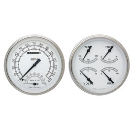 Classic Instruments Classic Instruments 47-53 Chevy/GMC Truck Instruments - Classic White