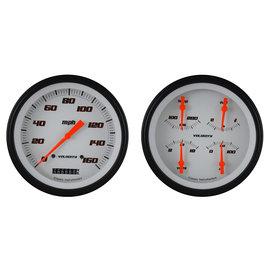 Classic Instruments Classic Instruments 47-53 Chevy/GMC Truck Instruments - Velocity White