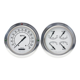Classic Instruments Classic White 54-55 Chevy Truck Instruments - Classic White