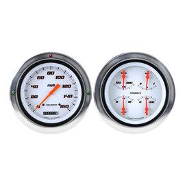 Classic Instruments Classic Instruments 54-55 Chevy Truck Instruments - Velocity White