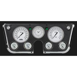 Classic Instruments Classic Instruments 67-72 Chevy Truck Instruments - Classic White Std. Speedo - CT67CW