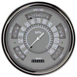 Classic Instruments Six Pack Gauge Set - Grey - SX01GSLF - Retail $985