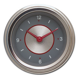 "Classic Instruments 2 1/8"" Clock - Silver Series - SS90SLF"