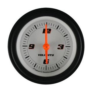"Classic Instruments 2 1/8"" Clock - Velocity White - VS90WBLF"