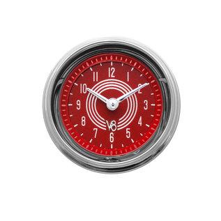 "Classic Instruments 2 1/8"" Clock - V8 Red Steelie - V8RS90SHC"