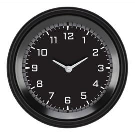 "Classic Instruments 3 ⅜"" Clock - AutoCross Gray - AX93GBLF"