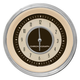 "Classic Instruments 3 ⅜"" Clock - Nostalgia Series - NT93SHC"