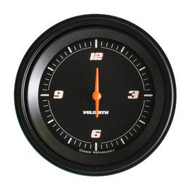 "Classic Instruments 3 ⅜"" Clock - Velocity Black - VS93BBLF"