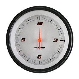 "Classic Instruments 3 ⅜"" Clock - Velocity White - VS93WBLF"