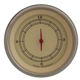 "Classic Instruments 3 ⅜"" Clock - Vintage Series - VT93SLF"