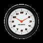 "Classic Instruments 2 ⅝"" Clock - Velocity White Series - VS92WBLF"