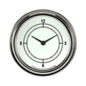 "Classic Instruments 2 ⅝"" Clock - Classic White - CW92SLF"