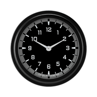 "Classic Instruments 2 ⅝"" Clock - AutoCross Gray - AX92GBLF"