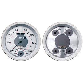 "Classic Instruments 2 Gauge Set - 4 5/8"" Speedtachular & Quad - All American Series - AW62SRC"