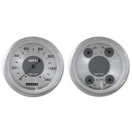 "Classic Instruments 2 Gauge Set - 4 5/8"" Speedometer & Quad - All American Series - AW52SRC"