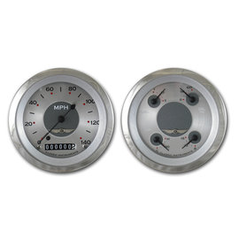 "Classic Instruments 2 Gauge Set - 3 3/8"" Speedo & Quad - All American Series - AW02SRC"