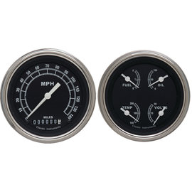 "Classic Instruments 3 3/8"" Speedo & Quad Two Gauge Set - Traditional Series - TR02SLF"
