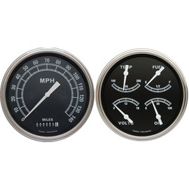 "Classic Instruments 4 5/8"" Speedo & Quad Two Gauge Set - Traditional Series - TR52SLF"