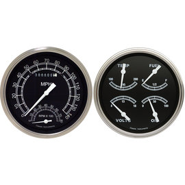 "Classic Instruments 2 Gauge Set - 4 5/8"" Speedtachular & Quad - Traditional Series - TR62SLF"
