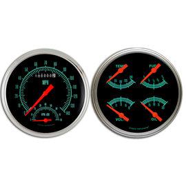 "Classic Instruments 4 5/8"" Speedtachular & Quad Two Gauge Set - G-Stock Series - GS62SLF"
