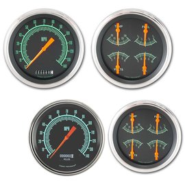 "Classic Instruments 2 Gauge Set - 4 5/8"" Speedo & Quad - G-Stock Series"