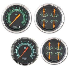 "Classic Instruments 4 5/8"" Speedo & Quad Two Gauge Set - G-Stock Series"