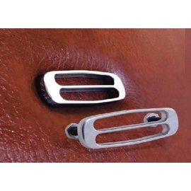 Trique Manufacturing Seat Medallion - Slotted - Polished