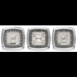 """Classic Instruments 3 Gauge Set - 4"""" Speedo, Tach & Quad - Esquire Series - ES03"""