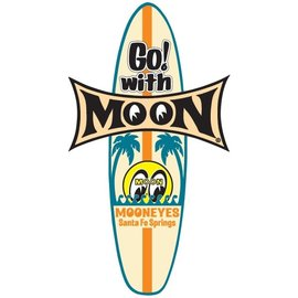 Mooneyes ME11-S - Go! with MOON Surfboard Sticker