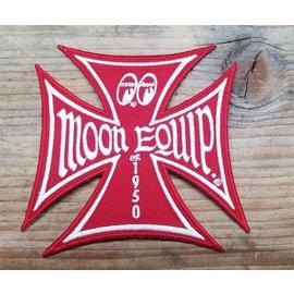 Mooneyes ME50 - Maltese Iron Cross Moon Equip Patch - Red