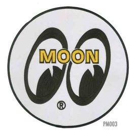 "Mooneyes ME53 MOON Logo Round Patch - 8"""
