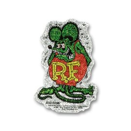 Mooneyes RF21S - Rat Fink Crazy Metal Flake Sticker