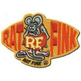 Mooneyes RF49 Orange Rat Fink Patch