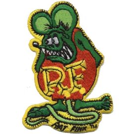 Mooneyes Rat Fink Full Embroidered Patch