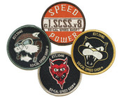 Fully Embroidered Hot Rod Inspired Patches