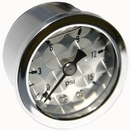 Mooneyes Mooneyes Engine Turned Pressure Gauge 0-15 LBS