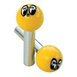 Mooneyes Door Lock Knobs - Mooneyes - Yellow - AA112MN