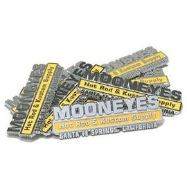 Mooneyes Hot Rod & Custom Emblem - MG078