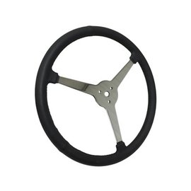 "Limeworks Sprint Steering Wheel - 15"" Black Leather - 3 Spoke/No Holes - ST3016"
